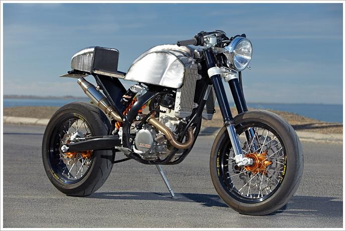 Engineered to Slide's '08 KTM 250 Café