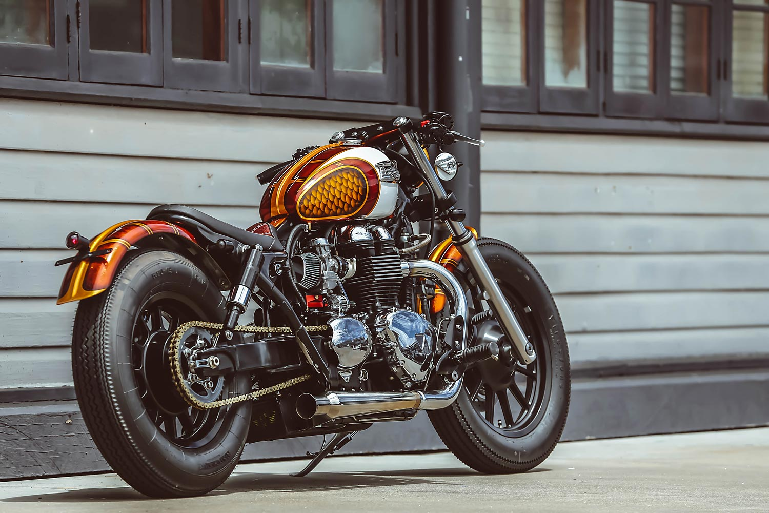 Dirty Rascal Triumph America Bobber Wenley Andrews