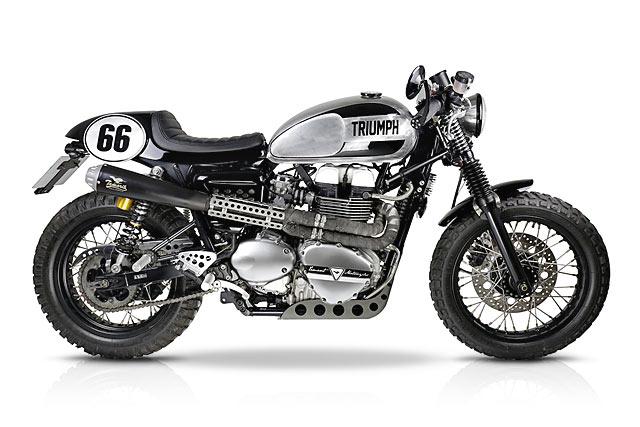 'Black Moustache' Thruxton Racer – Tamarit Motorcycles