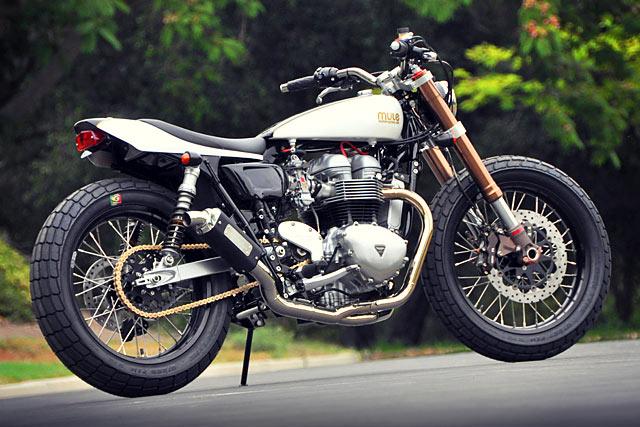 Colonel Mustard' Triumph Street Tracker - Mule Motorcycles