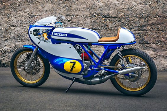 'No.7' Suzuki T500 Road Racer – Weberwerks
