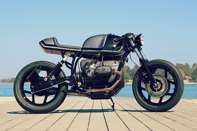 military manoeuvres. an ex-army bmw r80 from croatia's mighty