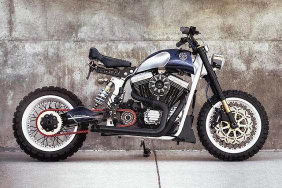 RIDER ON THE STORM. A Harley Sportster Tracker from JSK Moto Co.