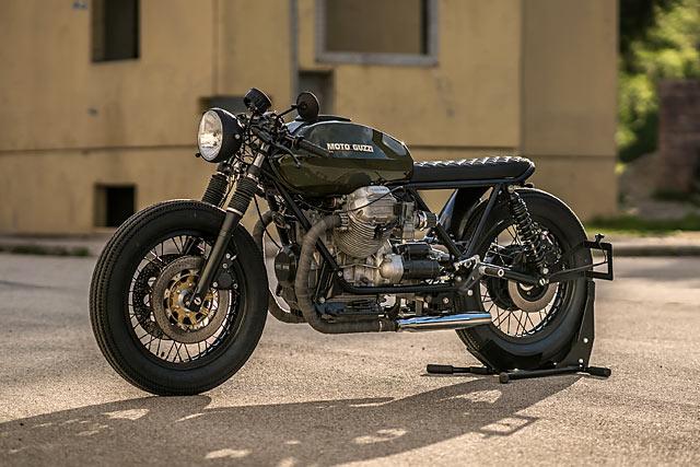 Austro Italian Stallion Nct S Hot Moto Guzzi 850 T4 Brat Cafe Pipeburn Com