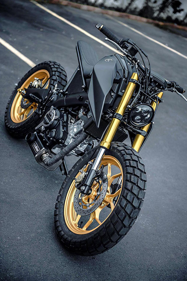 A Blazing Ape  K-speed U2019s Yamaha  U2018monkey-slaz U2019 Tracker