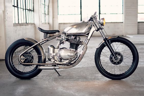 TOTALLY TUBULAR. Larsmade's Beautifully Bent '72 Honda XL250 Bobber