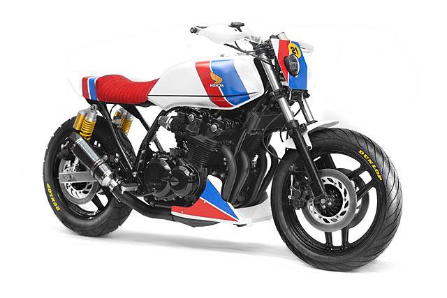 ROCKET'S RED GLARE. Steel Bent Custom's 'Liberty' Honda CB1100F Racer