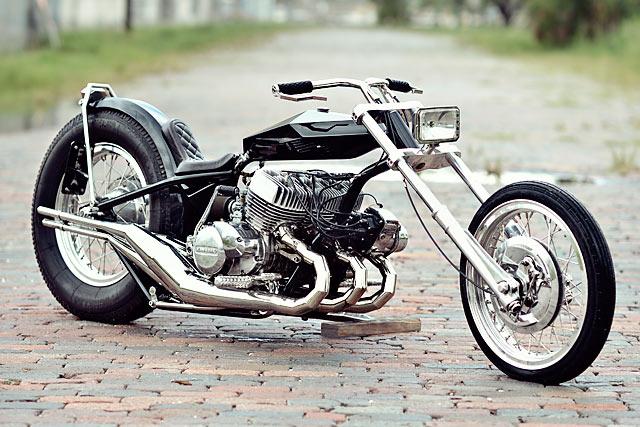 WACKY RACES  A Kawasaki 750 H2 Digger by Florida's FNA