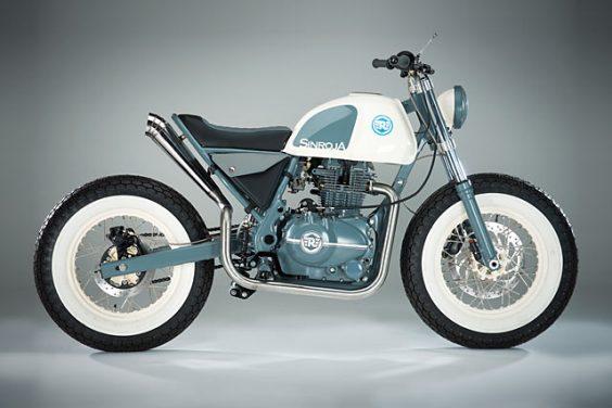 THREE PIECE HOOT. A Dapper Royal Enfield Brat From Sinroja Motorcycles