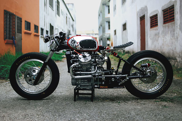 The 'Fire Ant' Honda CX500 Cafe Racer from Malaysia's Rusty Factory
