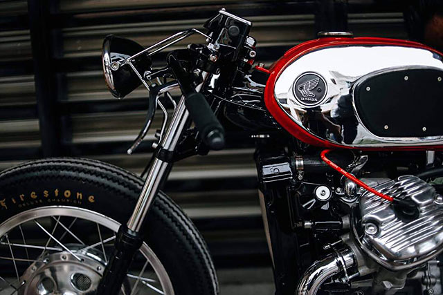 A BITE TO HEAT  The 'Fire Ant' Honda CX500 Cafe Racer from