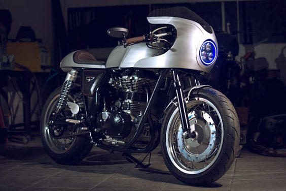 KING OF THE EAST. A Royal Enfield Racer from Indonesia's White Collar Bikes