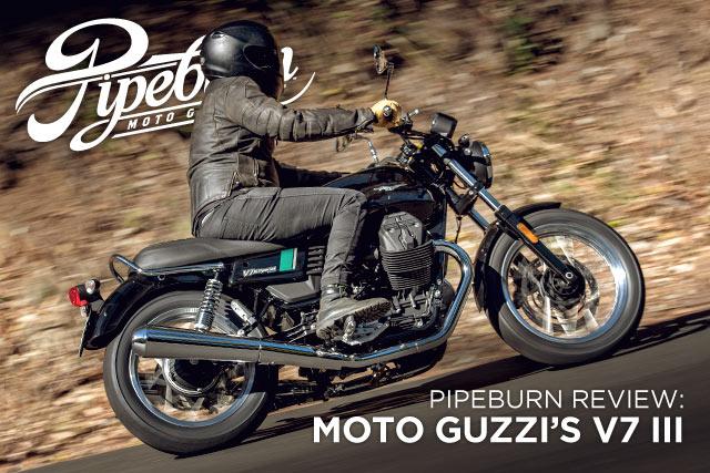 PIPEBURN REVIEW: Moto Guzzi's 2017 V7 III Special & Stone - Pipeburn.com