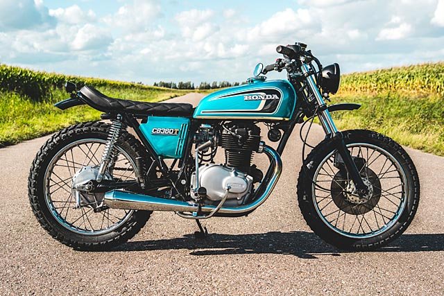 T IS FOR TROUBLE. 'The Rascal' Restomod Honda CB360T from Ironwood