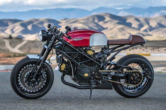 GROUP THUG. Mike Thalmann's Team-Built Ducati Monster Cafe Racer