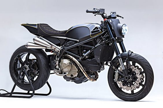 TERROR FORMING. A Black Canyon-Carving Ducati Tracker From Benji's Café Racers