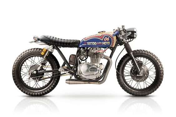 FASTER DAUGHTERS. Tattoo Custom's '74 Honda CB360 Brat Cafe
