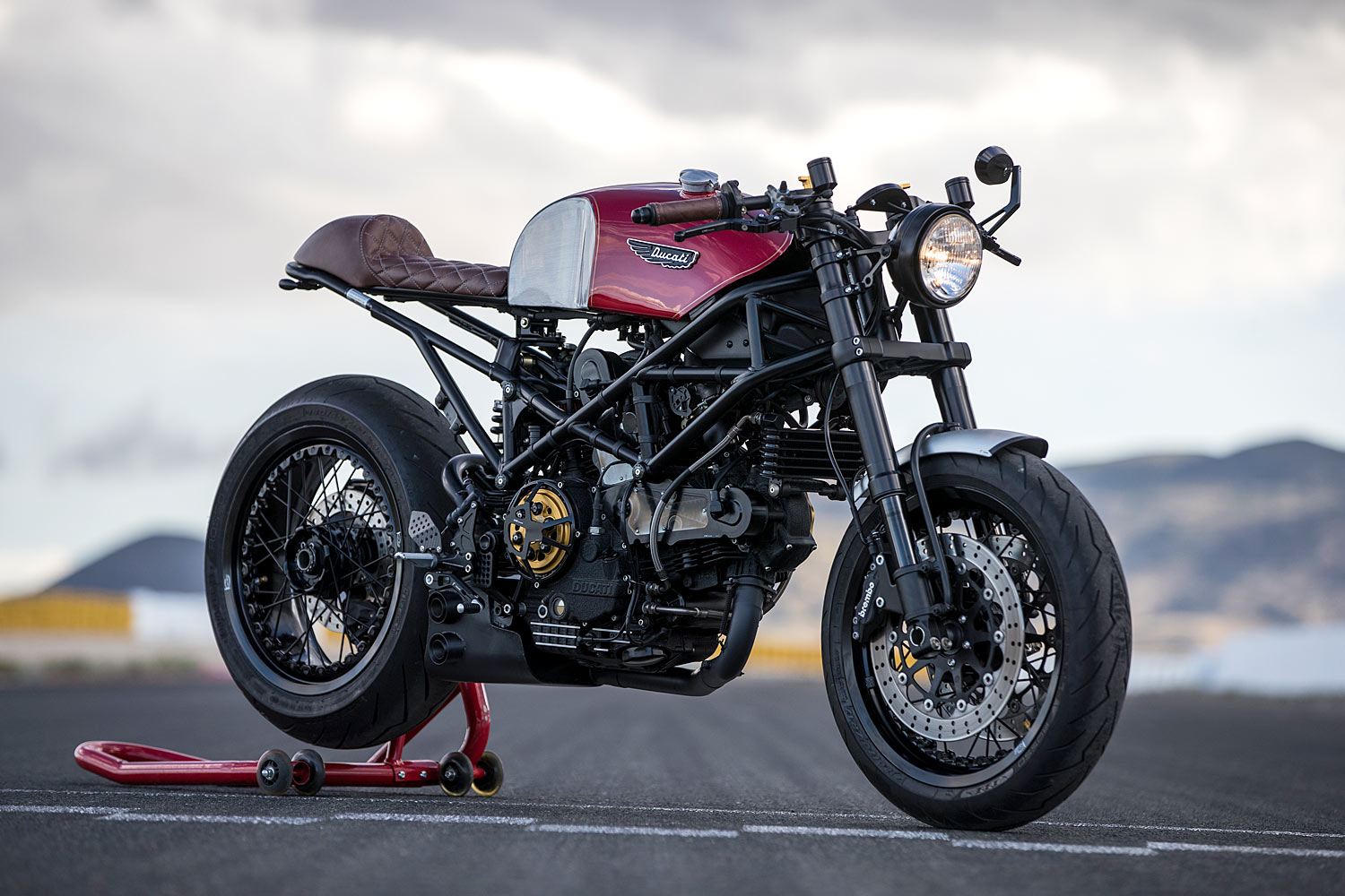 Black Ducati Monster  R