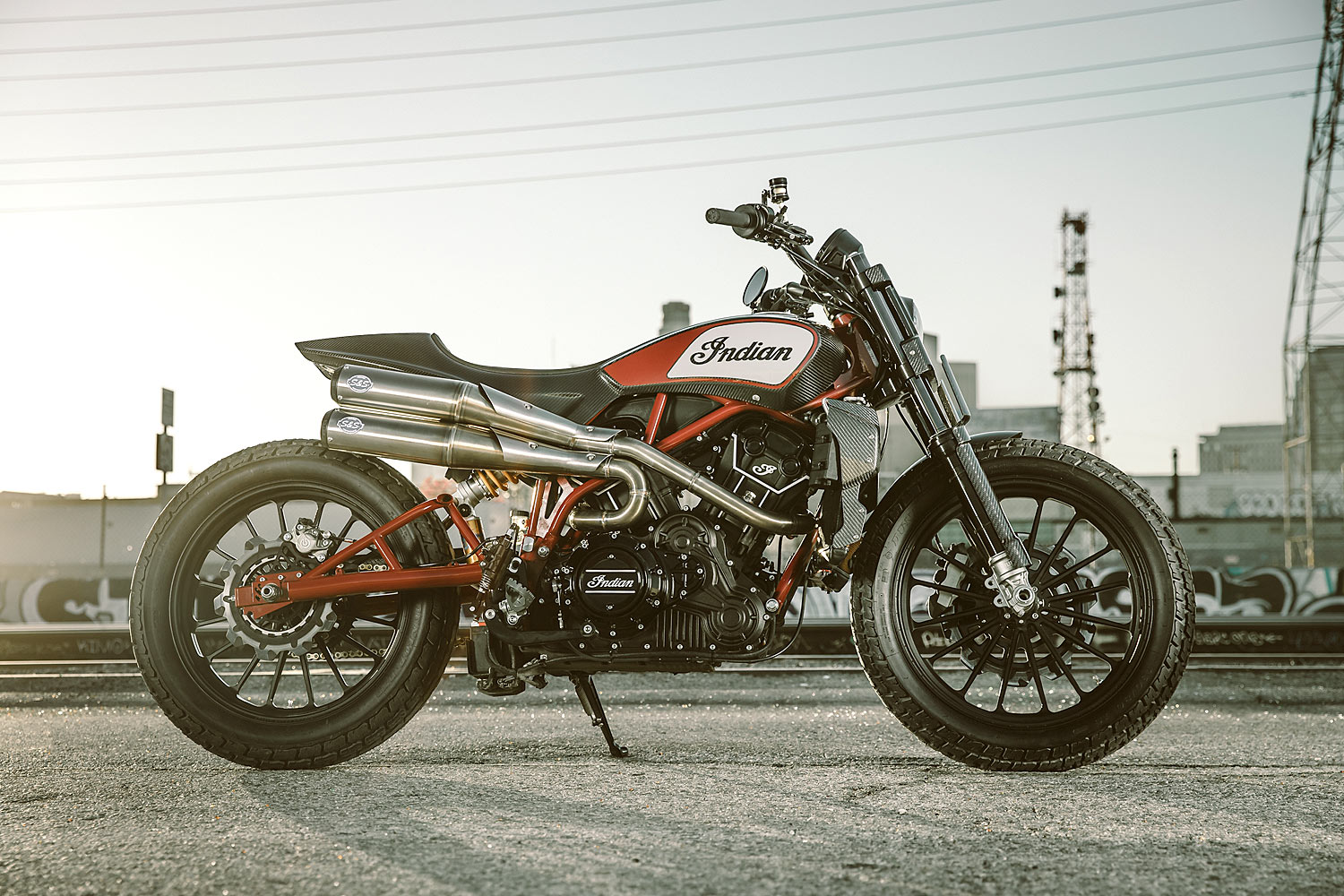 Dirt Flirt Indian Motorcycle Teases With A Scout Street Tracker 80 Wiring Harness