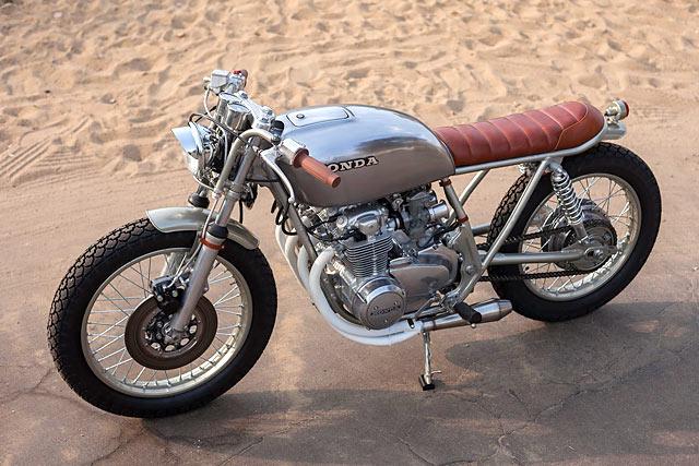 REDHEAD SLED. Ready Moto's 'Ginger' '78 Honda CB550