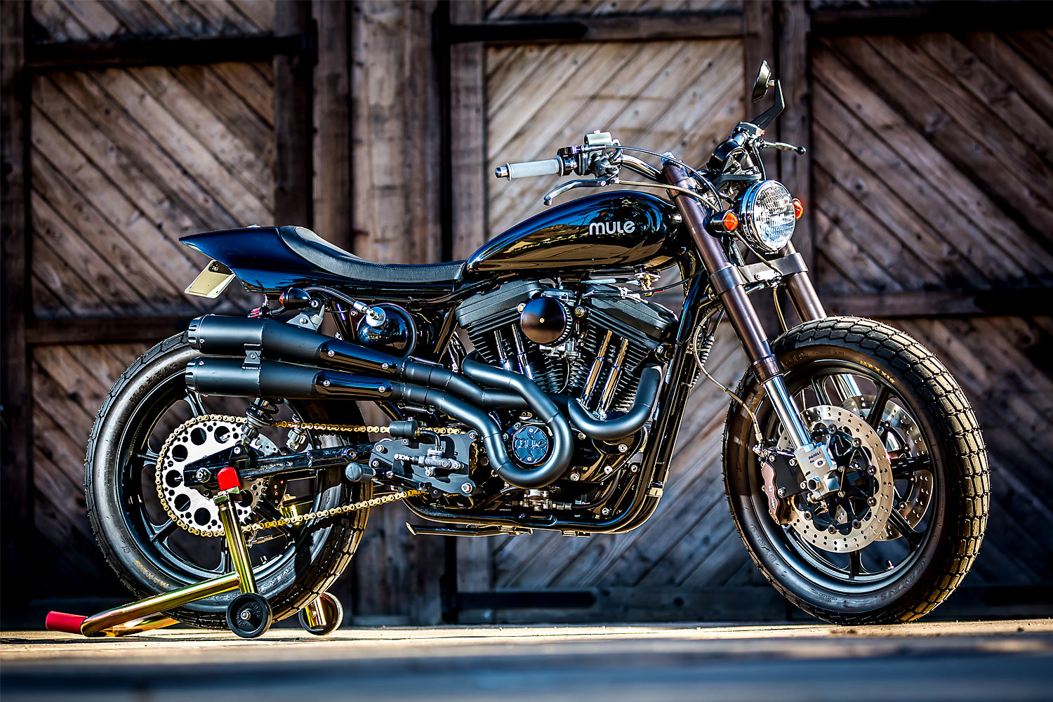 MULE VARIATIONS. The 'Ruppert's Ride' Harley 883 Tracker from Mule Motorcycles