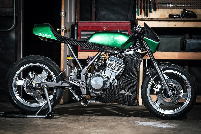 American Ninja Warrior Chris Zahners Carbon Kawasaki Ex250 Racer