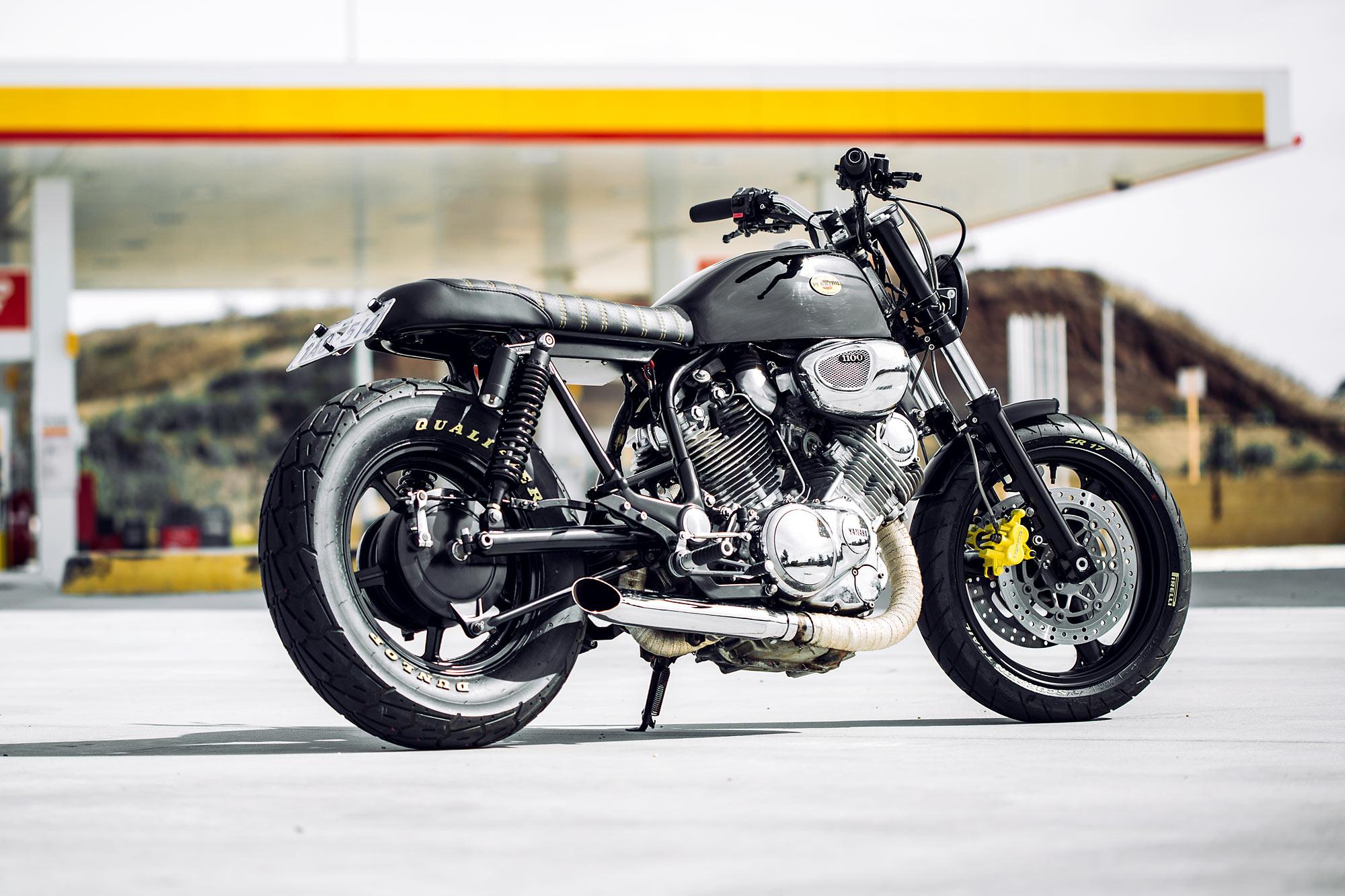 TALLADEGA KNIGHTS  Rogue Motorcycles' NASCAR-Inspired Yamaha XV1100