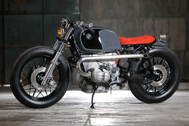 Well Red A Brilliant Bmw R100 Bobber From Heiwa Motorcycles