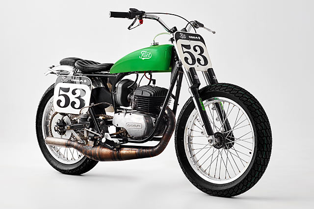 HIVE MIND. Fuel Motorcycles' 'Green Wasp' Ossa Tracker
