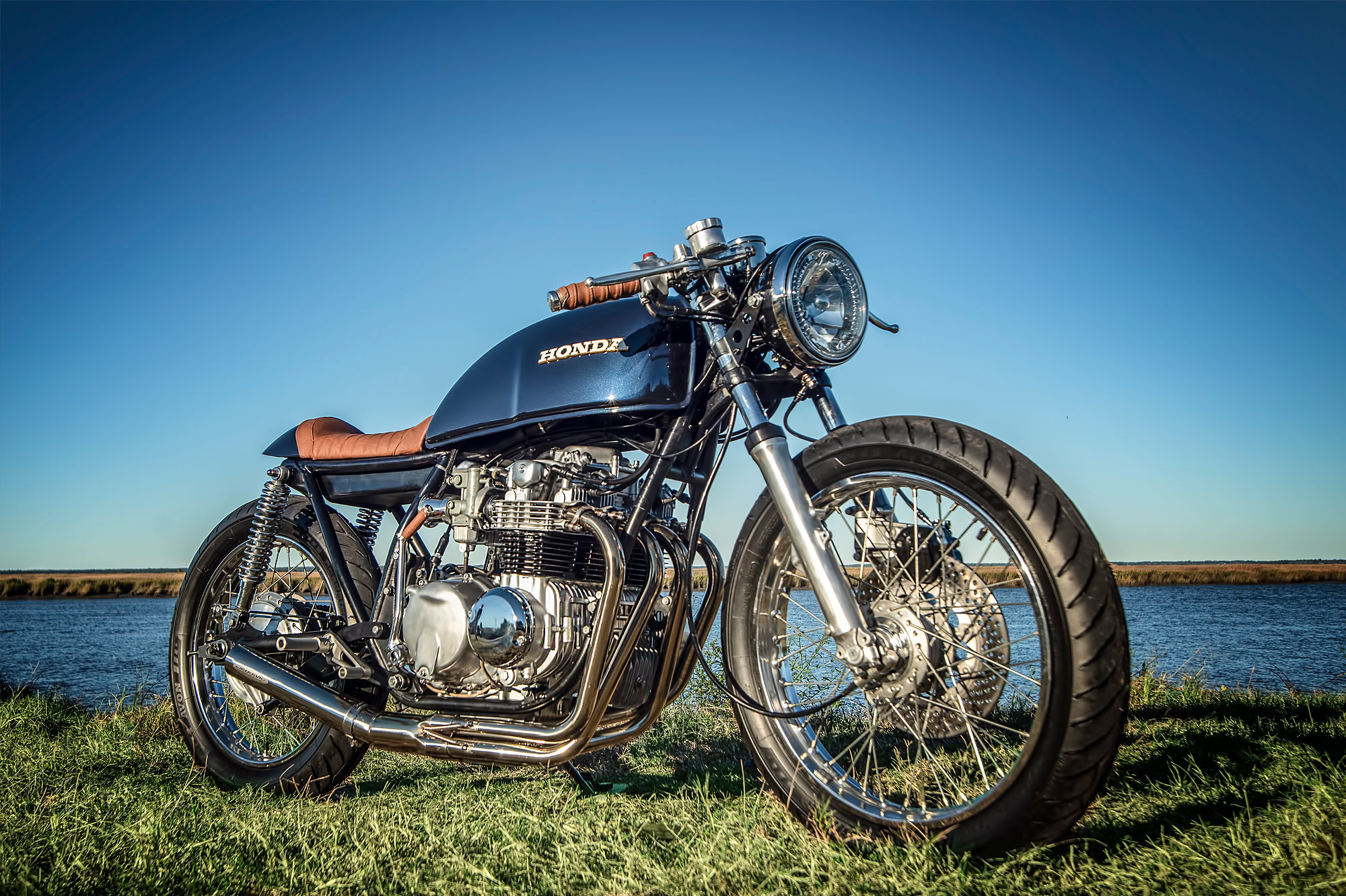 WAR HORSE. David Meyers' Majestic 'Balios' Honda CB550 ...