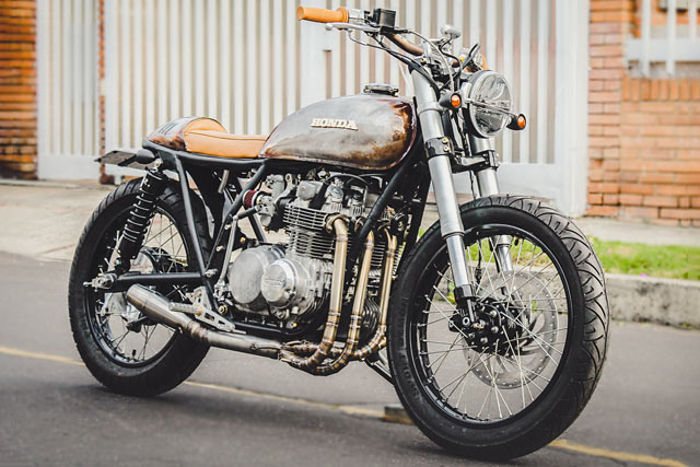ROUGH AND READY. Pasquale's '111' Honda CB500 Cafe Brat