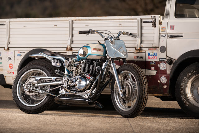 PURSUIT OF HAPPINESS. Plan B's 'Flyin' '57' Bianchi Moonshine Racer