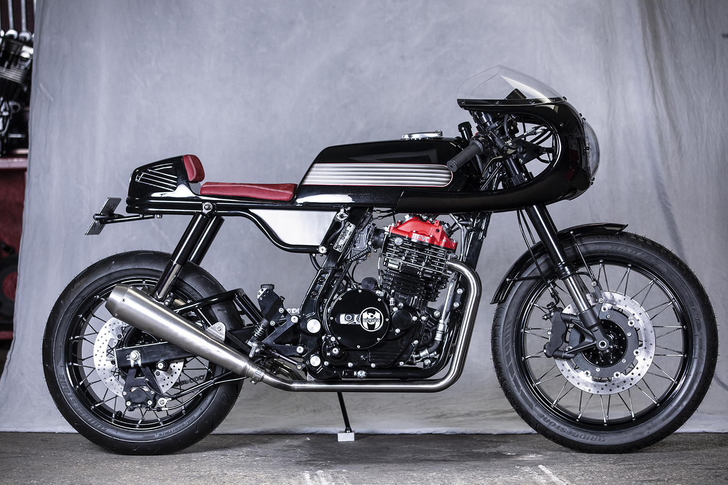 CAFFEINATED SINGLE. Honda Dominator NX650 by MécaServices92