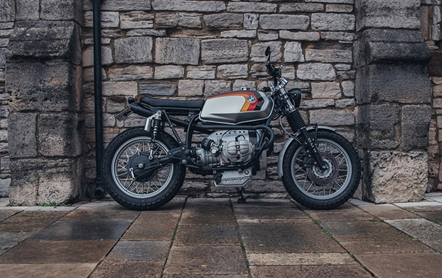 AIR OF ELEGANCE: 1982 BMW R45 'Argentum' by Side Rock Cycles