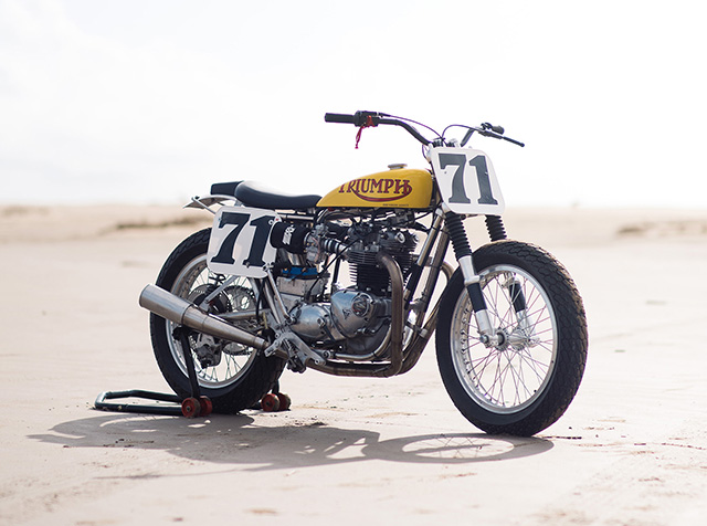 SIDEWAYS IN STYLE: Triumph TR6 Flat Tracker by Christophe Canitrot