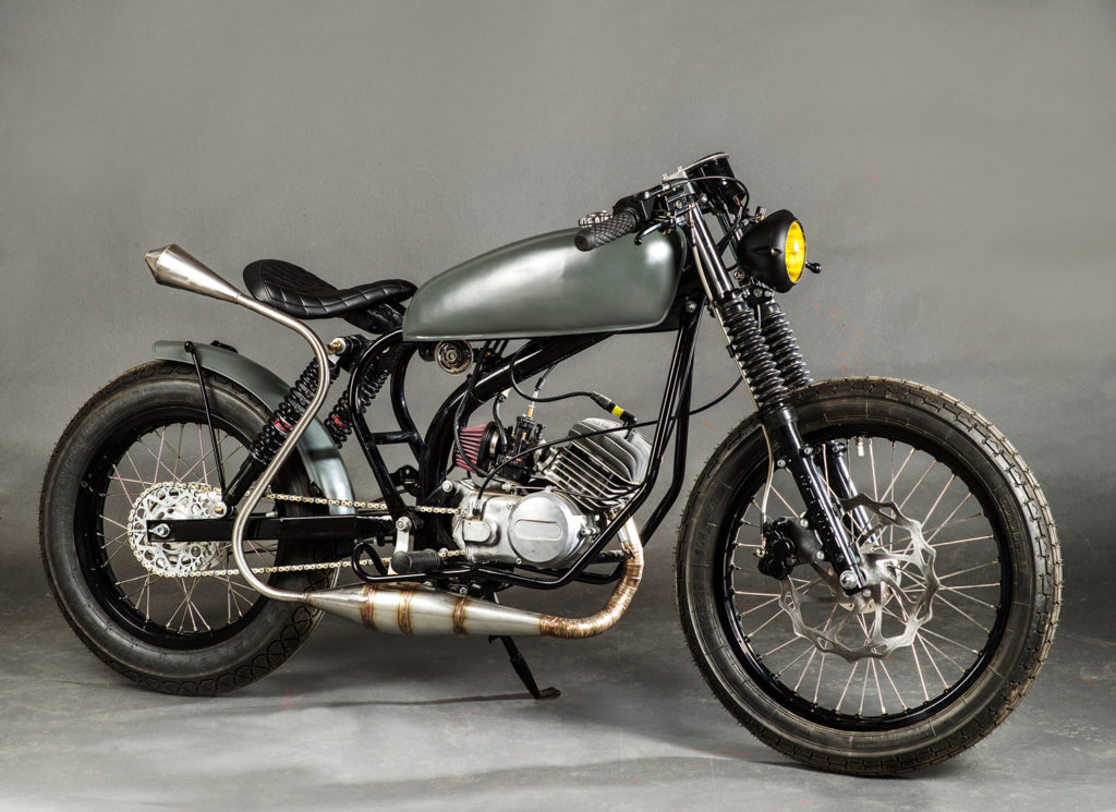 PINT-SIZED SMOKER: 1979 Simson & Co S50 by Ahl's Garage.