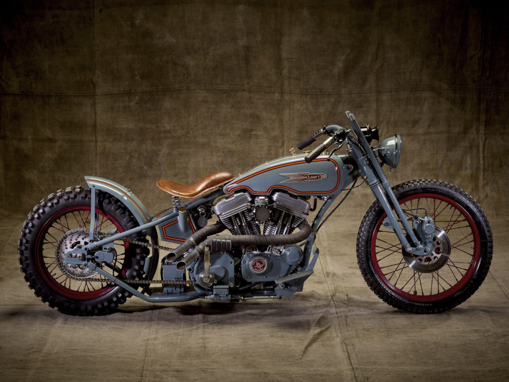 GENTLE MONSTER: Vintage Harley Hillclimber by Lucky Boy Customs.