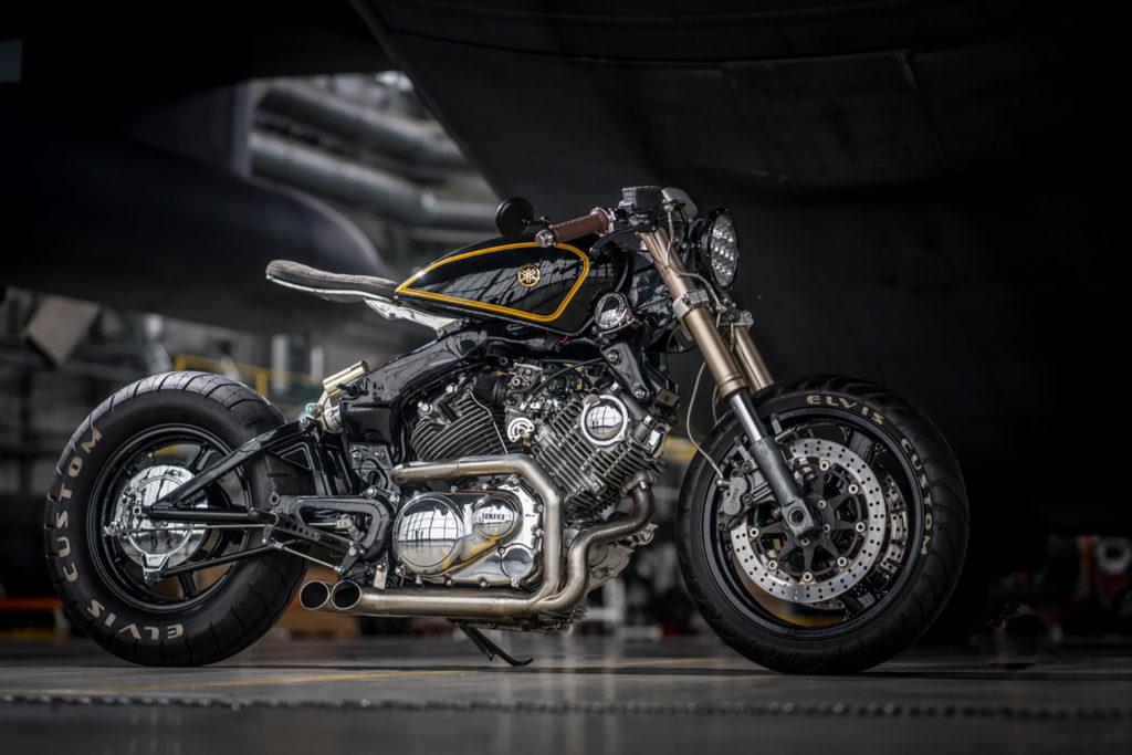 BURNING LOVE: Yamaha XV750 by Elvis Custom.