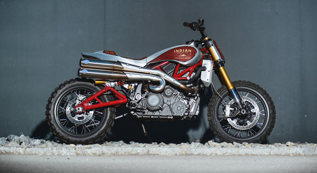 THE LONE WOLF: Indian FTR1200 Scrambler by Heritage & Sons.