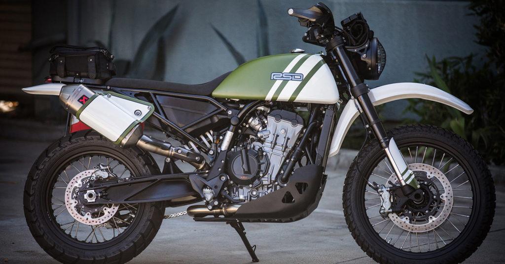AESTHETIC ADVENTURE: KTM 790 'Urban Assault' by Roland Sands Design.