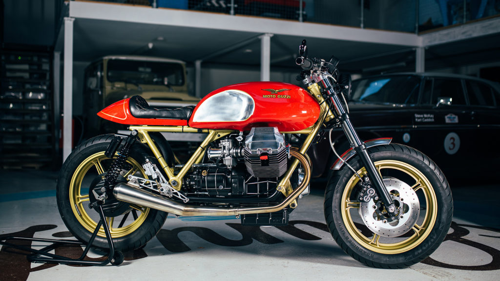 MODERN MAKEOVER: Moto Guzzi SP1000 'SkyFin' by Side Rock Cycles.